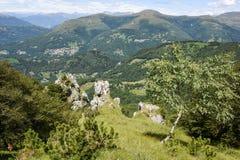 Denti della vecchia mountain over Lugano on Switzerland Stock Image