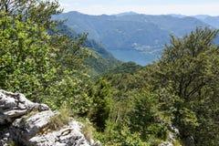Denti della vecchia mountain over Lugano on Switzerland Royalty Free Stock Photography
