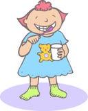 Denti di lavaggio del bambino illustrazione vettoriale