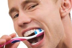 Denti di pulizia Fotografia Stock Libera da Diritti