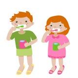 Denti di spazzolatura illustrazione vettoriale