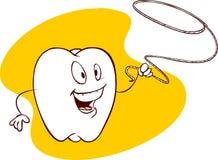 Denti e filo di seta Immagine Stock
