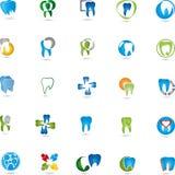 Denti, raccolta del logos, dentaria, dentista Fotografia Stock