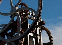Denti, rotelle e catene Fotografie Stock Libere da Diritti