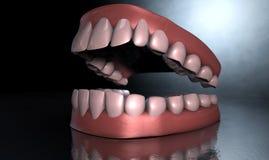 Denti terrificanti Immagine Stock Libera da Diritti