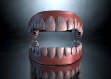 Denti terrificanti Fotografia Stock