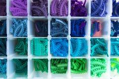 Denti viola della gomma del nero di verde blu fotografia stock libera da diritti