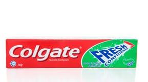 Dentifricio in pasta fresco di fiducia della Colgate Fotografie Stock