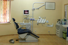 Dentis cabinet. The interior of a dentist cabinet stock images