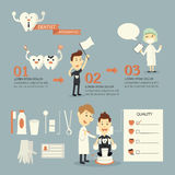Dentish-infographics, Satz Stockfotos