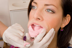 Dentist. A doctor with her patient Royalty Free Stock Images