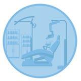 Dentist. Illustration of a dentist clinic Stock Photo