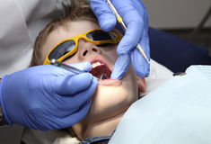At the dentist Royalty Free Stock Photos