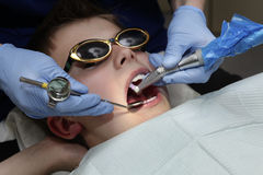 At the dentist Stock Photos