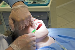 At the dentist Stock Photography