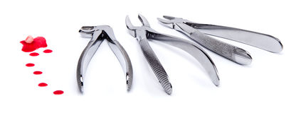 At the dentist. Photo of tools in dental surgery Stock Image