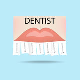 Dentist ad. Dental clinic. Stock Photos