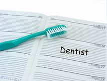 Dentist Appointment in Diary Royalty Free Stock Photo