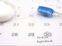 Dentist appointment Royalty Free Stock Images