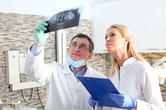 Dentist and assistant Royalty Free Stock Photo