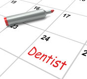 Dentist Calendar Shows Oral Health And Dental Stock Photography