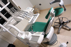 Dentist chair. In dental office Stock Image