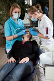 In the dentist chair Royalty Free Stock Images