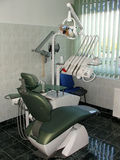 Dentist chair. In the cabinet Royalty Free Stock Photo