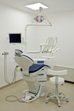 Dentist chair. A dentist chair and medical tools Stock Photos