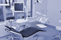 Dentist chair in violet Royalty Free Stock Photo