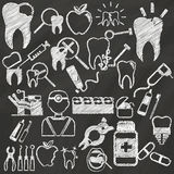Dentist by chalk Royalty Free Stock Photos