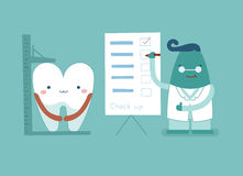 Dentist check it up ,teeth and tooth concept of dental Royalty Free Stock Photos