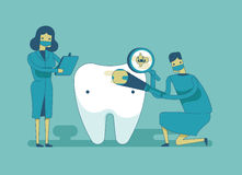 Dentist check up the tooth ,dental concept Stock Images
