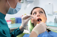 Dentist and checkup Stock Photo
