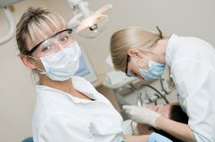 At dentist clinic Royalty Free Stock Photos