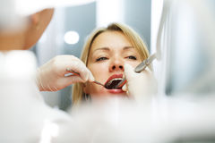 At the dentist. Royalty Free Stock Photo
