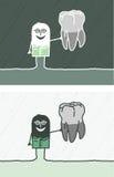 Dentist colored cartoon Stock Image