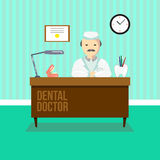 Dentist in dental clinic Royalty Free Stock Photo