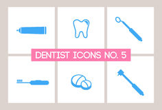Dentist & Dental Icons No. 5. A set of Dentist and Dental Icons Stock Images