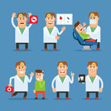 Dentist doctor vector character Royalty Free Stock Image