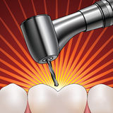 Dentist Drilling Tooth Stock Images