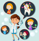 Dentist and eating habit of children Royalty Free Stock Photo