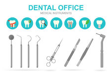 Dentist equipment . Vector illustration. Royalty Free Stock Photography