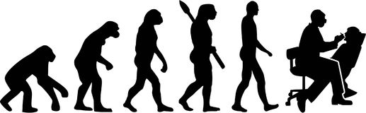 Dentist Evolution vector. Occupation medicine Royalty Free Stock Photography