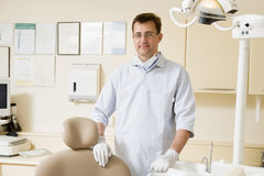 Dentist in exam room Stock Photos