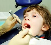 At a dentist examination Stock Photography