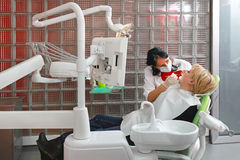 Dentist examination Royalty Free Stock Images