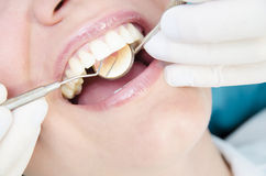 Dentist Examining Royalty Free Stock Photo
