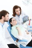 Dentist explain details of the x ray Stock Image