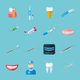 Dentist  Flat Icons Stock Photos
